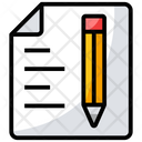 Writing Sketching Document Icon
