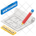 Archetype Mockup Sketching Icon