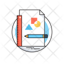 Sketching Geometry Pencil Icon