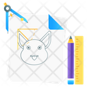 Sketching Drawing Rabbit Sketch Icon