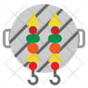 Skewer Barbecue Bbq Icon