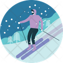 Ski Snow Winter Icon