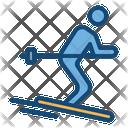 Ski Ski Board Ski Poles Icon