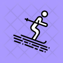 Ski Skiing Recreation Icon