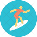 Ski Surfing Skate Icon