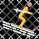 Ski Skiing Recreation Icon