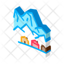 Ski Resort Village Icon