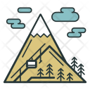 Ski Resort Mountains Icon