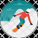 Skiboarding Icon