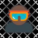 Skier Man Glasses Icon