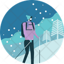 Hiking Winter Outdoor Icon