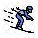 Skiing Sports Competition Icon
