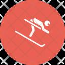 Skiing Alpine Adventure Icon