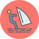 Skiing Surfing Water Icon