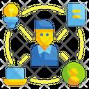 Skill Coordination Competence Icon