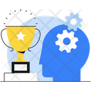 Skill Development Winning Trophy Icon