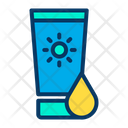 Skin Care Sunscreen Sunlotion Icon