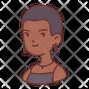 Skin head woman Icon