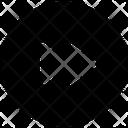 Multimedia Glyph Skip Round Icon