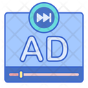 Skip Ads Advertising Live Ads Icon