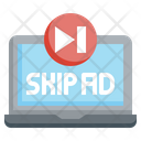 Skip Ads Views Megaphone Icon