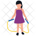 Skipping Rope Jumping Jack Healthy Exercise Icon