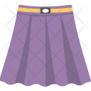 Skirt Purple Color Icon