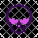 Skull Halloween October Icon
