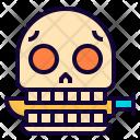 Skull Knife Scary Icon