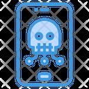 Skull Smartphone Malware Icon