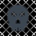 Skull Danger Warning Icon