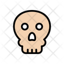 Skull Danger Warning Icon