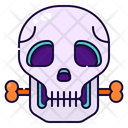 Skull Bone Halloween Icon