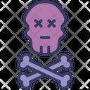 Bone Crossbones Halloween Icon