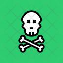 Skull Bones Danger Icon