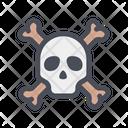 Skull And Crossbones Skull Danger Icon