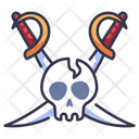 Skull And Sword Icon