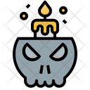 Skull Candle Icon