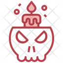 Candle Skull Candles Icon