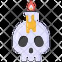 Skull Skull Candle Ghost Skull Icon