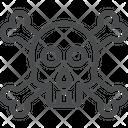 Skeleton Head Bone Icon