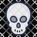 Skull Head Acid Rain Nuclear Icon