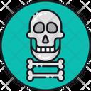 Skull Of Death Crossbones Dead Icon