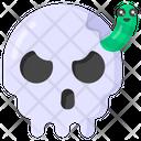 Halloween Skull Skull Snake Scary Skull Icon
