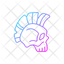Skull With Mohawk Hairstyle Skull Mohawk Icon