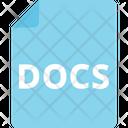 Sky Docs Docs File Storage Icon