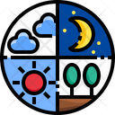Sky Moon Sun Land Sky Moon Icon
