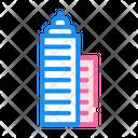 Skyscraper Building Color Icon