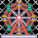 Skywheel Swing Amusement Park Icon