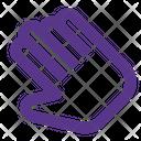 Slant Hand Pointer Icon